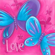 BUTTERFLY - LOVE  Splosh BUTTERFLY KISSES  LOVE CanvasCanvas is stretched onto a timber frame which is ready to hang on your wallMeasurements 25cm x 25cm Please Click the image for more information.
