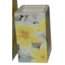 Brush Holder Frangipani Square Brush Holder in Frangiani design  Please Click the image for more information.