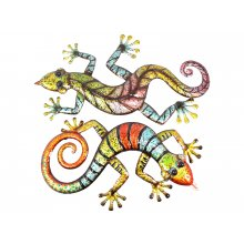 Colourful Metal Lizard 62cm Colourful Metal Lizard Please Click the image for more information.