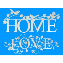 Home or love Wall Art  64cm77cm cream metal Homelove Wall Art  Please Click the image for more information.