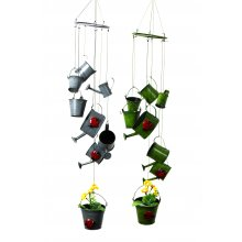 8 Watering Cans/Buckets wind chime 8 Watering CansBuckets wind chime Please Click the image for more information.