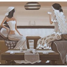 Sister Act Cafe 40x40 Canvas Canvas is stretched onto a timber frame which is ready to hang on your wallMeasurements 40cm x 40cm Please Click the image for more information.