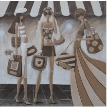 Sister Act Shopping 40x40 canvas Sister Act Shopping Canvas40x40cm  Please Click the image for more information.
