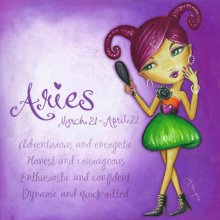 ARIES DESIGN 25X25cm ASTRO GIRL CANVAS PRINT ARIES DESIGN 25X25cm   Please Click the image for more information.