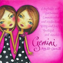 GEMINI DESIGN 25X25cm ASTRO GIRL CANVAS PRINT GEMINI DESIGN 25X25cm   Please Click the image for more information.