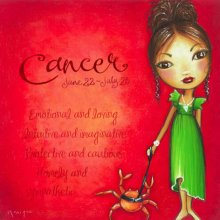 CANCER DESIGN 25X25cm ASTRO GIRL CANVAS PRINT CANCER DESIGN 25X25cm   Please Click the image for more information.