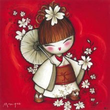 GETA GIRL - PARASOL Canvas 25x25  Please Click the image for more information.