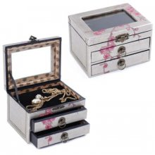 CHERRY BLOSSOM 2 drawer Jewellery Box Cherry Blossom 2 Drawer Jewellery BoxLovely jewellery box with a cherry blossom designPerfect to store all your treasuresColour GreySilver with pink decorative flowersA beautiful addition to any dressing tablemeasuremen. Please Click the image for more information.