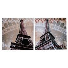 Set of 2 EIFEL VIEW canvases  Measurements 50cm x 50cm each canvas Please Click the image for more information.