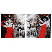 Stunning Set of 2 Audrey Canvases  Measurements 50cm x 50cm each canvas Please Click the image for more information.