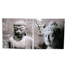 Set of 2 Canvases TRANQUIL BUDDHA   Measurements 50cm x 50cm each canvas Please Click the image for more information.