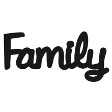 FAMILY - Black SPLOSH word FAMILY  A beautiful addition to any wall or shelf in your homeThe words suit all decorating trends  Shab. Please Click the image for more information.