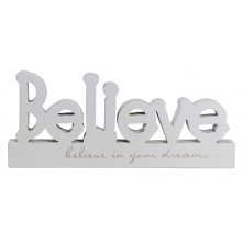 BLOCK WORD - Believe Cute block word with verse Verse reads Believe in your dreams Length 291cm Please Click the image for more information.