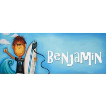 SURF Door Plaque - BENJAMIN Measurements 93cm wide 46cm high  Please Click the image for more information.