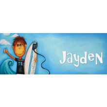 SURF  Door Plaque - JAYDEN Measurements 93cm wide 46cm high  Please Click the image for more information.