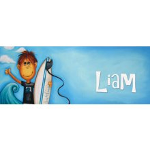 SURF Door Plaque - LIAM Measurements 93cm wide 46cm high  Please Click the image for more information.