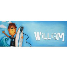 SURF  Door Plaque - WILLIAM Measurements 93cm wide 46cm high  Please Click the image for more information.