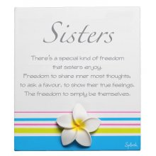 Original Poem - SISTERS Measurements 10cm wide 13cm high Please Click the image for more information.