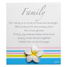 Original Poem - FAMILY Measurements 10cm wide 13cm high Please Click the image for more information.