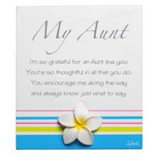 Original Poem - AUNT Measurements 10cm wide 13cm high Please Click the image for more information.