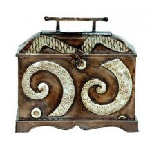 Iron Box Iron Box From Kelly Lane  A Tad TrendiIt has an aged look with a balinese influenceFantastic earthy colours would make a great decorative piece Measurement 23cm x 20cm x 31cm Please Click the image for more information.