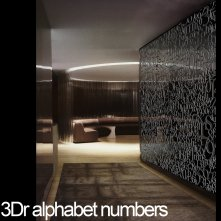 3Dr Alphabet Numbers