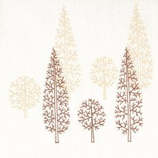 Evergreen Chocolate on Cream A simple but stunning design of grouped pine trees on a lovely 100 quality cotton Evergreen would look fabulous made into curtains blinds cushions and table linen for the home. Please Click the image for more information.