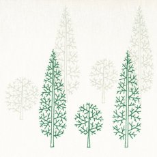 Evergreen Green on Cream A simple but stunning design of grouped pine trees on a lovely 100 quality cotton Evergreen would look fabulous made into curtains blinds cushions and table linen for the home. Please Click the image for more information.