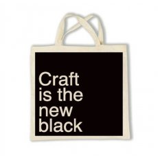 Tote Craft Is The New Black Limited Edition screen printed Tote designed by Shannon Lamden Design Craft is the new black Black on Natural 100 CottonDimensions Tote measures approx 37cm wide x 40cm deep. Please Click the image for more information.