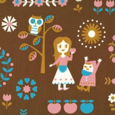 Fairytale Brown Adorable japanese fabric based on fairytale favourites This childrens design would look fabulous made into wall art linen and cushions. Please Click the image for more information.