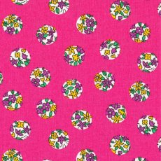 Simple Flower Spot Hot Pink Contemporary japanese fabric featuring flower design inside spots Please Click the image for more information.