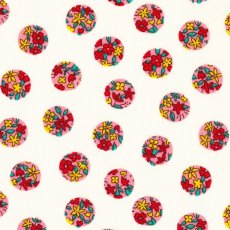 Simple Flower Spot Soft Pink Contemporary japanese fabric featuring flower design inside spots Please Click the image for more information.