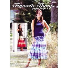 Favorite Things The Bohemian Skirt Easy peasant skirt with elasticized waist for comfort The skirt can fit on the waist or below the waist lowrise depending on how you adjust the elastic Mak. Please Click the image for more information.