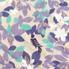 Hummingbird Leaves Purple  Stunning whimsical hummingbird  leaf design printed on a medium weight textured cottonlinen blend Id. Please Click the image for more information.