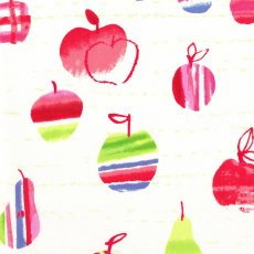 Hummingbird Apple & Pear Cream Colourful apple and pears on a quality light weight 100 cotton Please Click the image for more information.