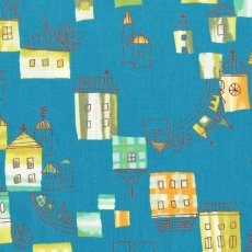 Hummingbird Village Teal Hummingbird Village is a delightful fabric featuring little villages with a water colour washed effect. Please Click the image for more information.