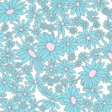 Daisies Aqua on White  Please Click the image for more information.
