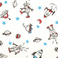 My Graffitii Robots & Rockets Cream Drawn and coloured as if by a child My Graffiti Robots  Rockets is an adorable childrens fabric that will appeal to the younger ones Please Click the image for more information.