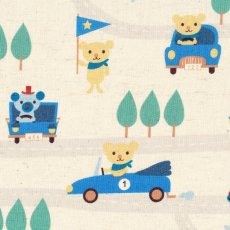 Puti de Pome Bear Car Race Blue Brrrrm Brrrm Puti de Pome Bear Car Race is an adorable fabric for the boys Please Click the image for more information.