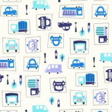 Traffic Grid Lock Blue on Nu Cream Fantastic boys fabric automobiles traffic lights  trees This light weight boys fabric is perfect for clothing or light childrens decor  and craft projects. Please Click the image for more information.
