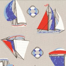 Sailing Boats Grey This sail boat marine design is printed on a medium weight cottonlinen blend making it perfect for home decorating projects. Please Click the image for more information.
