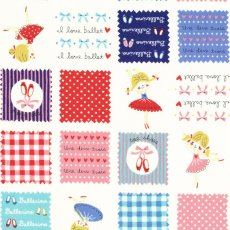 I Love Ballet Patch Red & Blue This gorgeous light weight ballerina fabric is perfect for childrens clothing or light home decorating projects for a little girls bedroom such as linen cushions throws and lampshades. Please Click the image for more information.