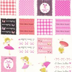 I Love Ballet Patch Pink