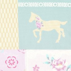 Luluca Horse Patch Robins Egg Blue &amp; Dusty Mauve