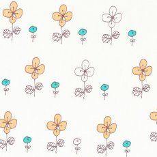 Hana Moyou Flowers Soft Orange & Jade We love this simple sketchy flower design by Japanese designer Megumi Sakakibara and the colour way of soft orange and jade is divine Please Click the image for more information.