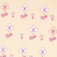 Hana Moyou Flowers Pink We love this simple sketchy flower design by Japanese designer Megumi Sakakibara This design would look beautiful made into a dress skirt or soft furnishings for a pretty girls bedroom. Please Click the image for more information.
