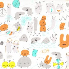 Monsterz Mash Orange Organic Cotton Monsterz by Michle Brummer Everett for Cloud 9 Fabrics is the sweetest childrens fabric collection filled with likeable monsters  critters The. Please Click the image for more information.