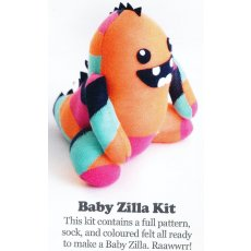 Craft Schmaft Baby Zilla Kit Multi This beautiful kit contains everything you need to make this adorable Baby Zilla of the friendly variety RaawwrrContents include Pattern sock fabric felt  embroidery perleThe pattern . Please Click the image for more information.