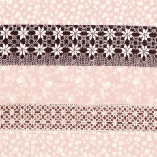 Chintz Floral Stripe Eggplant & Dusty Pink Chintz Floral Stripe has an exquisite japanese flower stripe design and is printed on a beautifully soft double gauze. Please Click the image for more information.