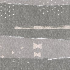 Nani IRO Element Collage Knit Grey Nani IRO Element Collage has a lovely irregular abstract stripe with star and spot elements in a subtle shimmer grey. Please Click the image for more information.